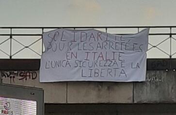 Solidarité avec les arreté.e.s en Italie ! l'unica sicurezza è la libertà !